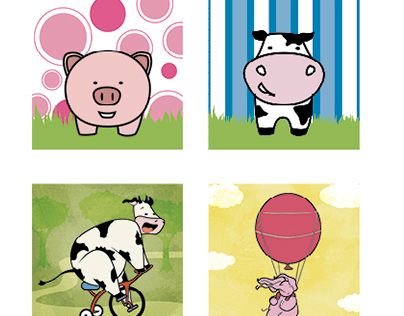 Illustrations for childrens home decor