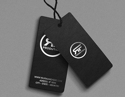 Paper Tag Logo MockUp