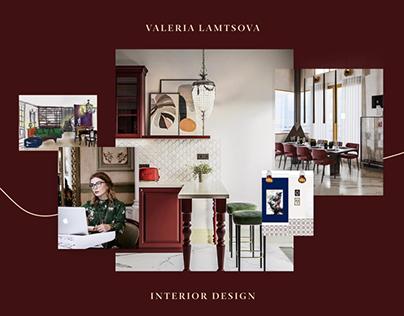 Interior studio website concept