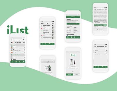 Product Design & Branding for iList mobile App