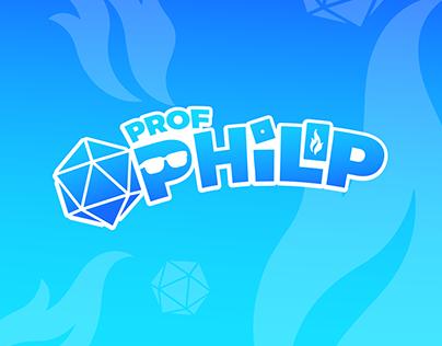 Logo y linea gráfica Prof Philip