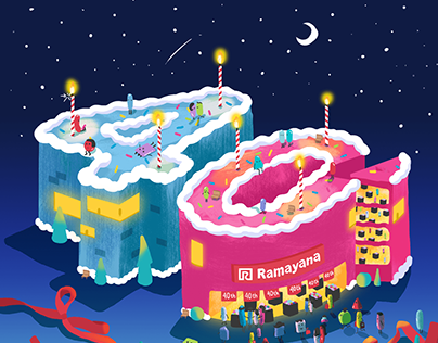 Ramayana Store 40th Anniversary Type Design