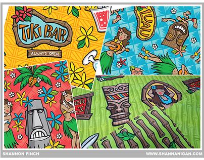 Textile Design - Kitsch Tiki