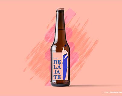 Relájate   Label design concept