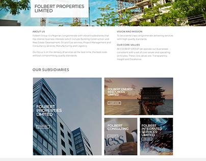 UI / UX Design for Folbert Group