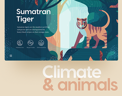 Climate & Animals: Extinction Crisis Website UI/UX