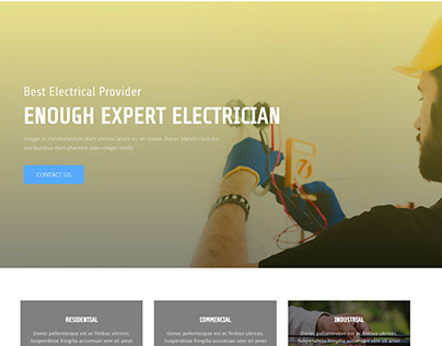 Electrician Landing page.