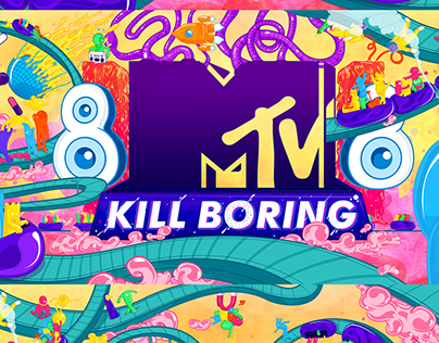 MTV India KILL BORING/ Wall Decor