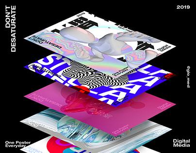 Poster Design Vol 1 | DON'T DESATURATE 2019