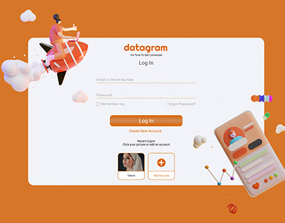 Social Media Web LogIn UI | Datagram