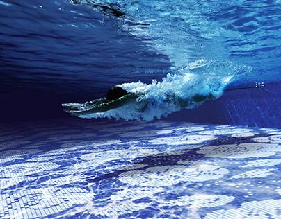 Bisazza photoinsertion pool render