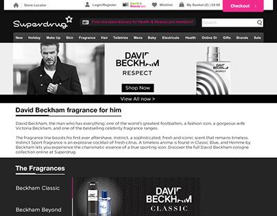 David Beckham Brandshop Re-design