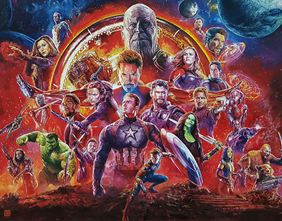 AVENGERS - Oil on Canvas