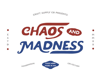 FREE | Chaos and Madness Hand-drawn Font