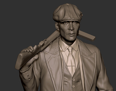 Peaky Blinders full height 3d model of Cillian Murphy