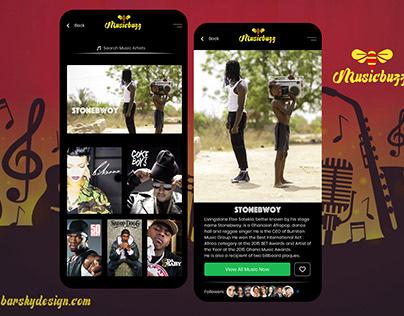 Music Buzz UI Design Concept