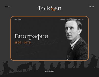 Tolkien s Beography Web design UX UI