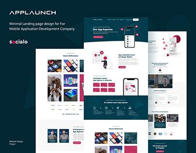 Applaunch Landing Page Design