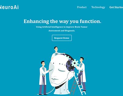 NeuroAI: Artificial Intelligence Landing page