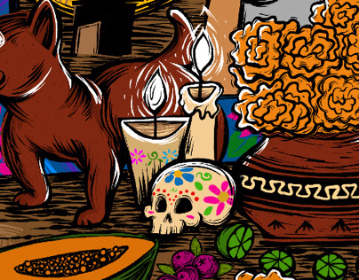 Cartel de la feria de todos los santos Colima 2018