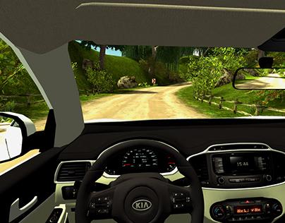 car simulation game for kia on behance. Black Bedroom Furniture Sets. Home Design Ideas