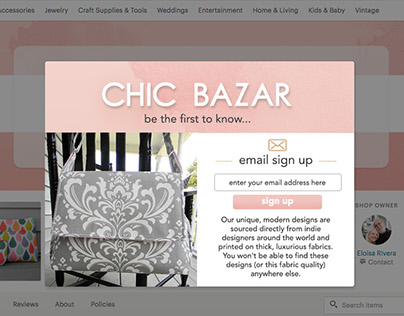 UI Design Challenge #7: email sign up page.