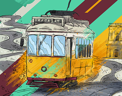 Painel ilustrado Dona Lisboa   Illustration Dona Lisboa