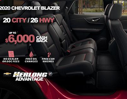 2020 Chevrolet Blazer Web Banner