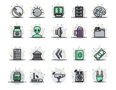 Color Fill Icon Set - WIP