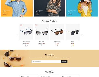 Eyena Goggles Store Template