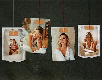 Hanging Photo Frames Set Moodboard Mockup