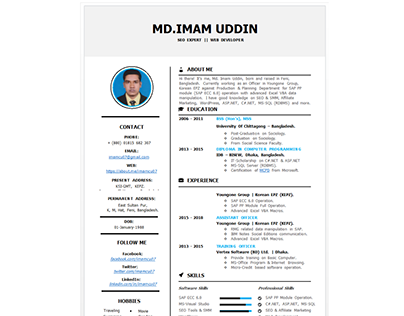 Resume Of imamcu07