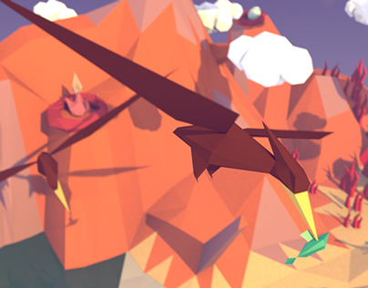 Low-Poly Dinosaur Minisets