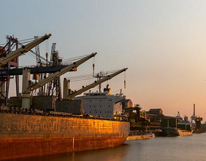 The real port of Hamburg