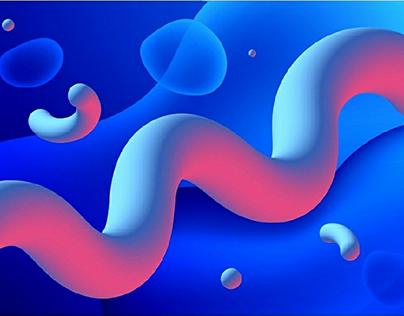 Fluid art (eps, vector)
