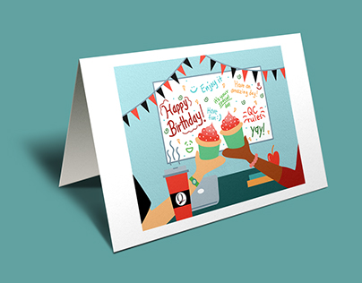 Queens College Birthday Card