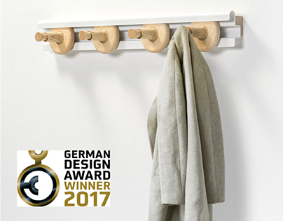 GET THE WHEELS TURNING coat rack with sliding hooks