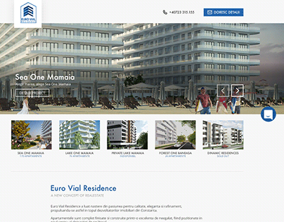 Real Estate Developer presentation website