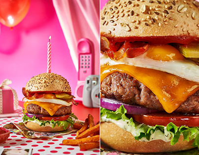 The NEW BURGER photography by www.thefoodielookbook.com