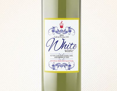"Red & White ""Whine"" Bottle Labels"