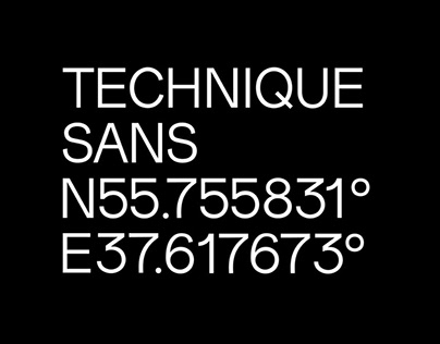 TECHNIQUE SANS - FREE MODERN GROTESQUE FONT
