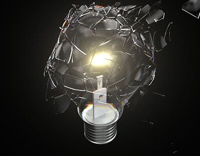 4K Lightbulb Breaking Closeup