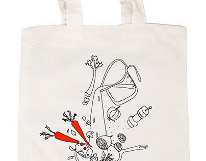 Logo, flyer, bag