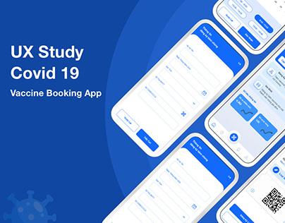 UX Case Study - COVID-19 Vaccine Booking App