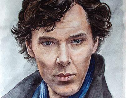 Portrait of Benedict Cumberbatch