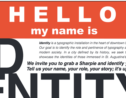 Identity: A Typographic Installation