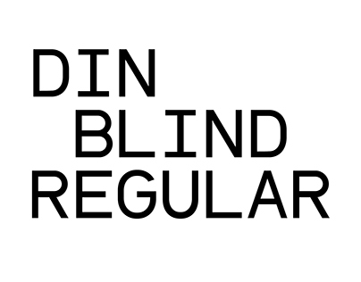 DIN Blind Regular Typeface
