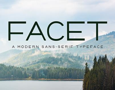 Facet- the font