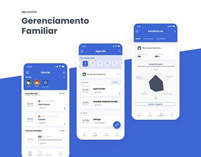 Gerenciamento Familiar - app conceito
