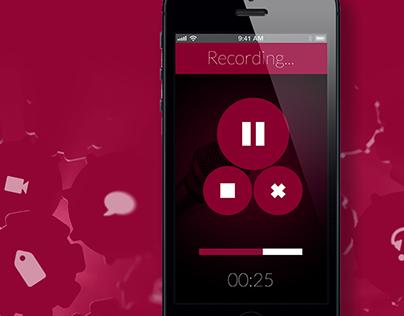 Verba Recording App User Interface